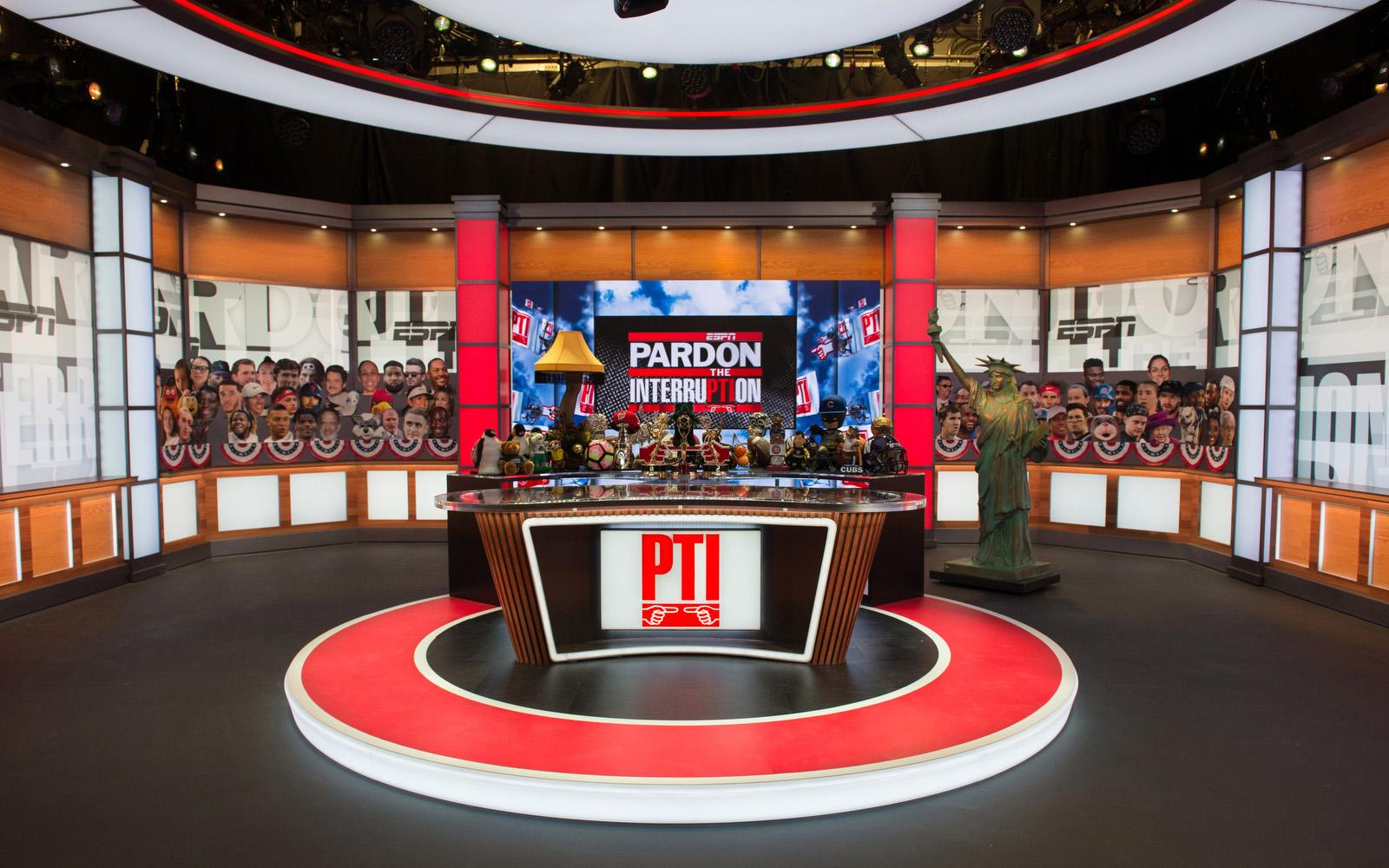Washington D.C. - January 14, 2020 - DC Studios: Pardon the Interruption set. (Photo by Randy Sager / ESPN Images)