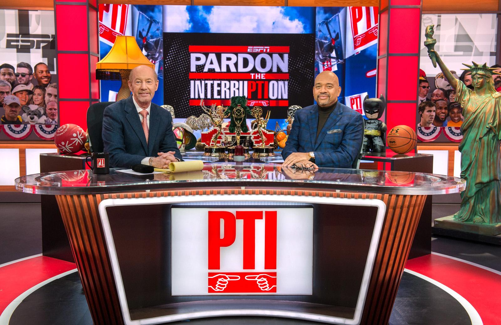 Washington D.C. - January 14, 2020 - DC Studios: Tony Kornheiser and Michael Wilbon on the Pardon the Interruption set. (Photo by Randy Sager / ESPN Images)