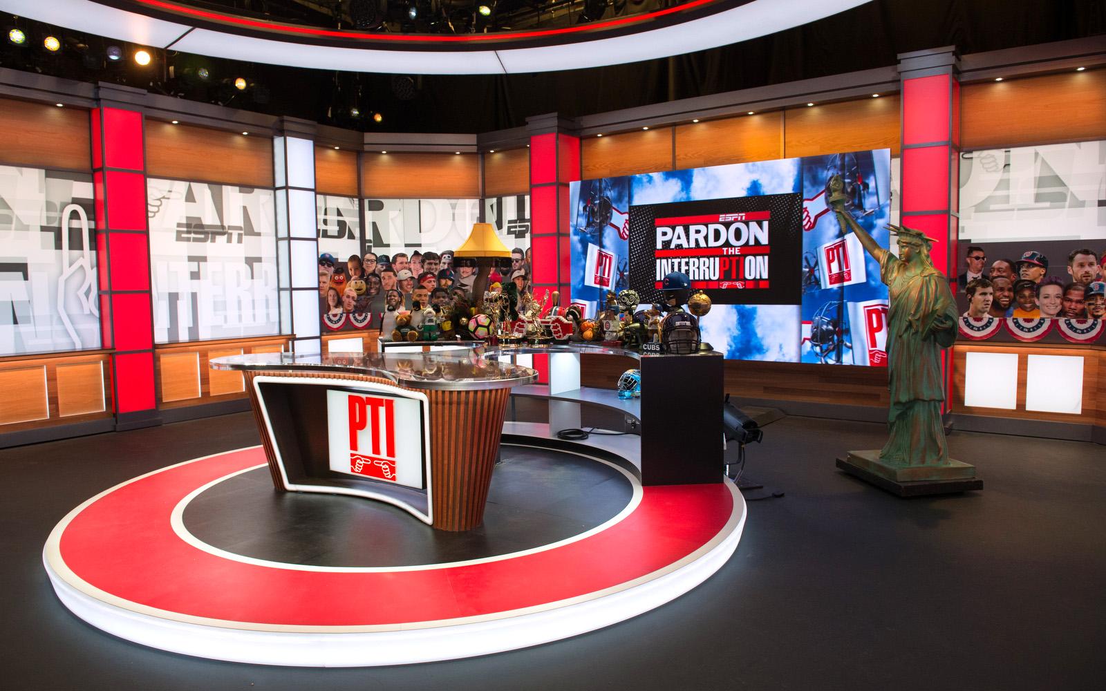 Washington D.C. - January 14, 2020 - DC Studios: Pardon the Interruption set (Photo by Randy Sager / ESPN Images)