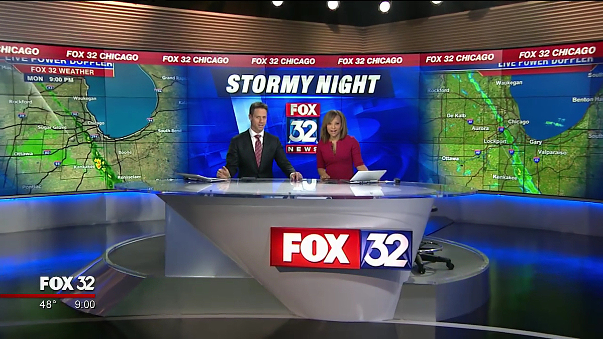 Fox Chicago takes full advantage of new set's video walls