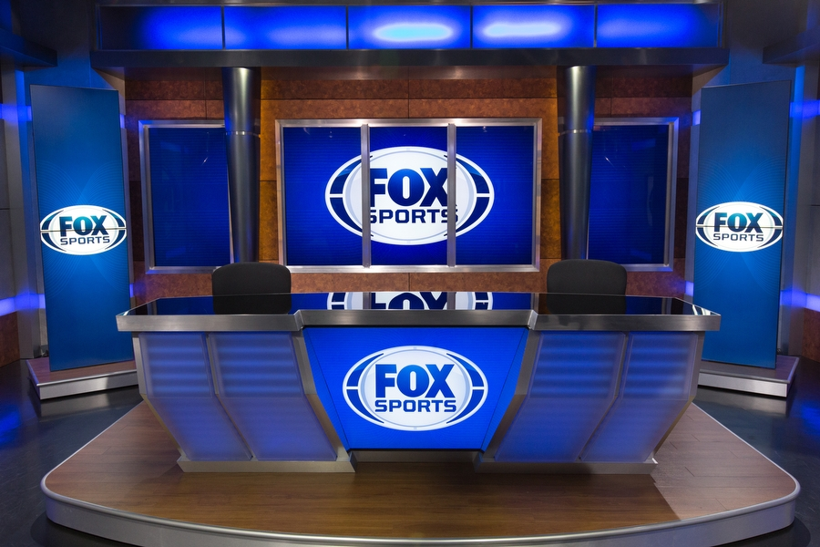 fox sports south studio desk anchor network broadcast national sets foxsports newscaststudio lighting overhauls achieves revamped feel ncs