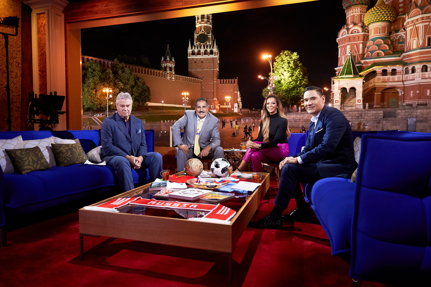 FOX Sport studio during 2018 FIFA World Cup at the Red Square on June 25, 2018 in Moscow, Russia. (Photo by Oleg Nikishin special for FOX Sport)