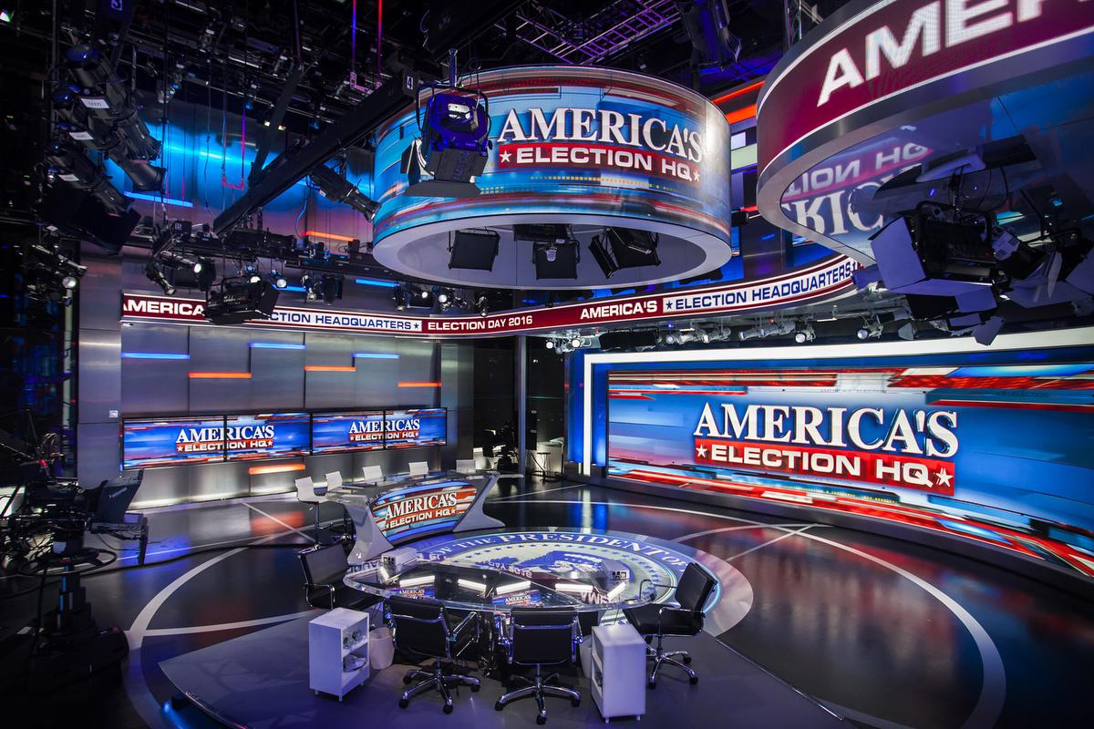 Fox News Studio F Broadcast Set Design Gallery