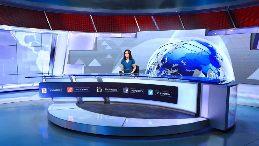 Kompas tv broadcast set design gallery - Virtual room designer upload photo ...