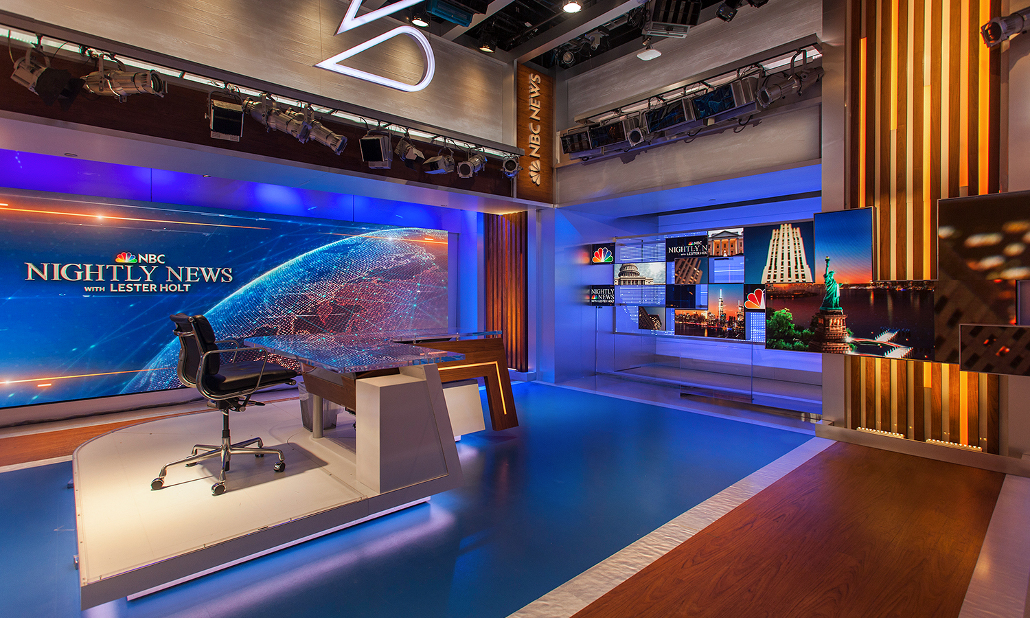 Design By: NBC Nightly News / Studio 3C Studio Design Gallery