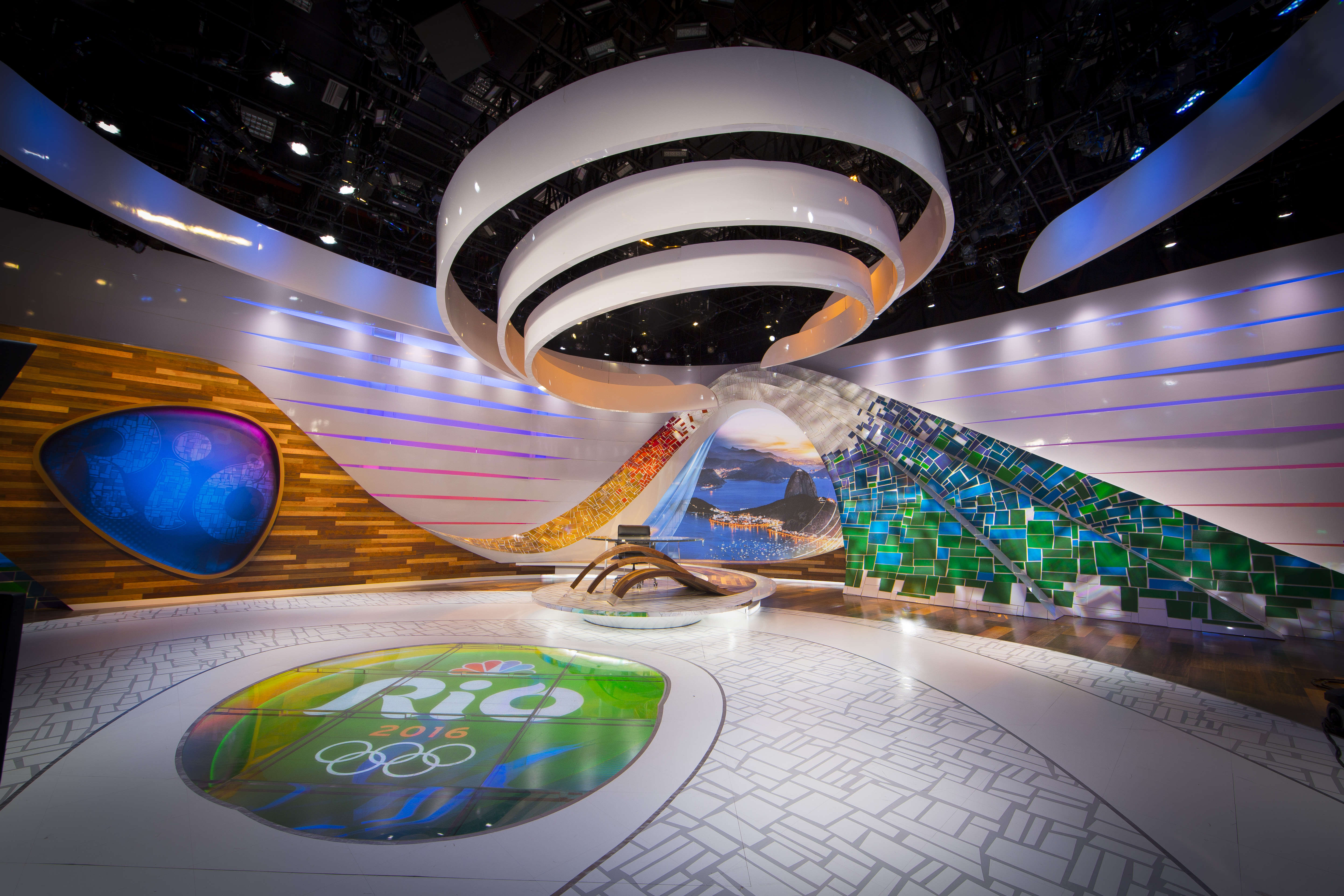 Nbc Rio Olympics Set Design Gallery # Meuble Tv Olympo