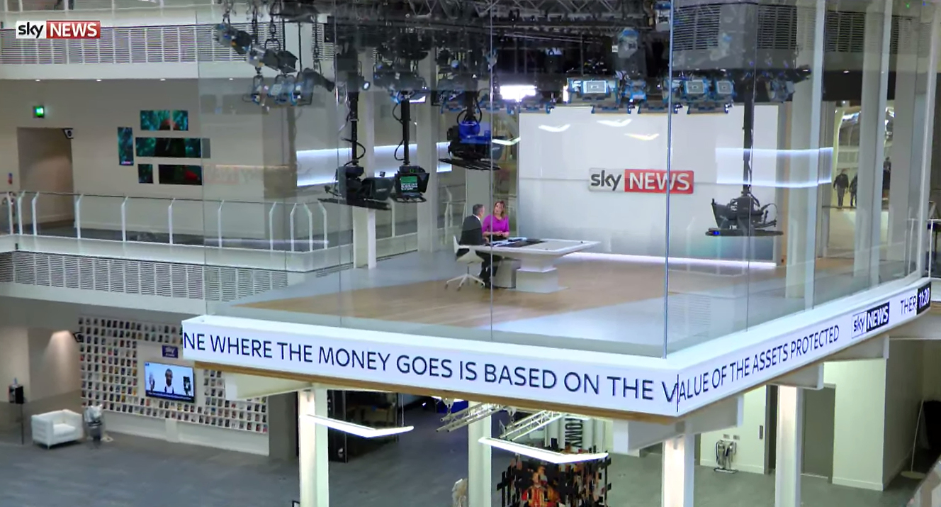 "Sky News ""Glass Box"" Studio Set Design Gallery"