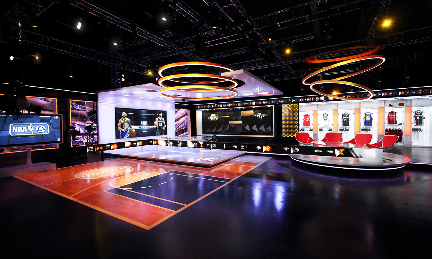These Productions Are Designed For >> Tencent's NBA studio blends basketball references with tech - NewscastStudio