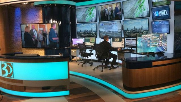 WBTV-TV Broadcast Set Design Gallery