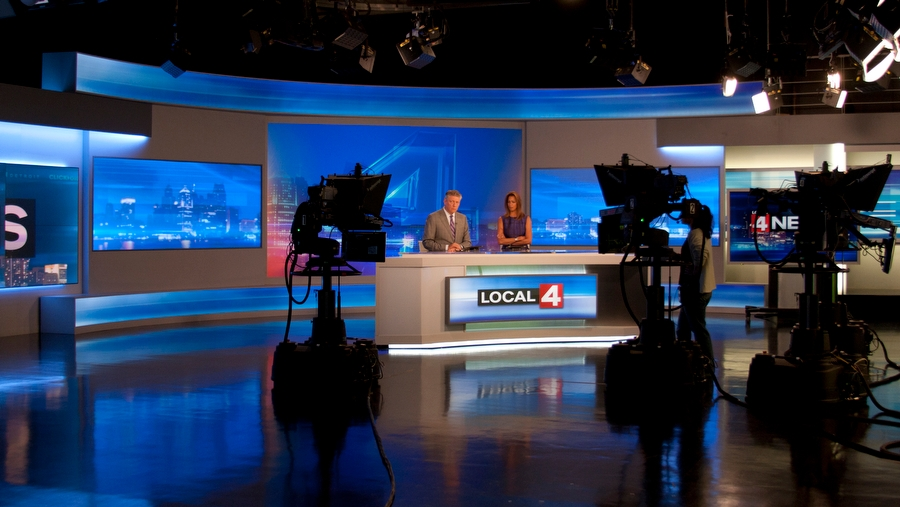WDIV-TV Broadcast Set Design Gallery