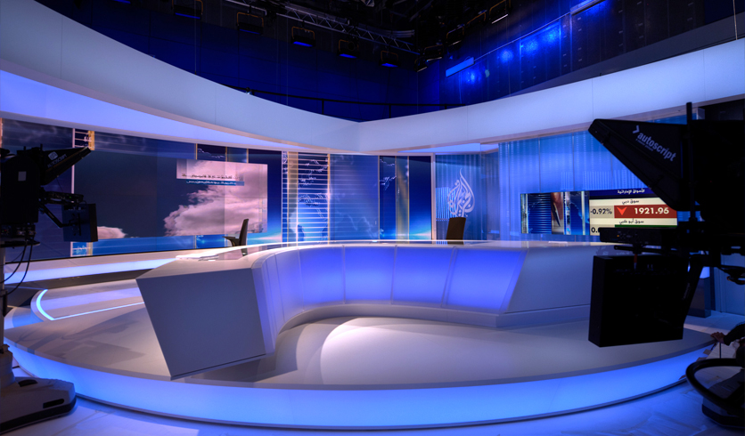 Al Jazeera Arabic Broadcast Set Design Gallery