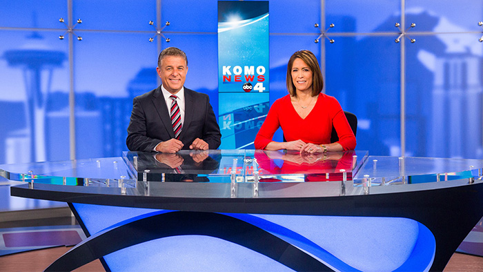 KOMO TV News set design