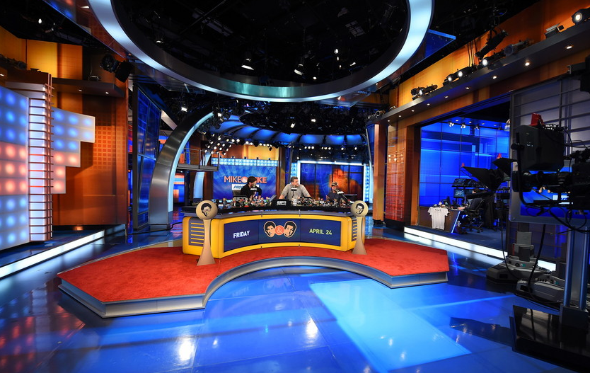 """Mike & Mike"" broadcasting from Studio E. Photo by Joe Faraoni / ESPN Images"