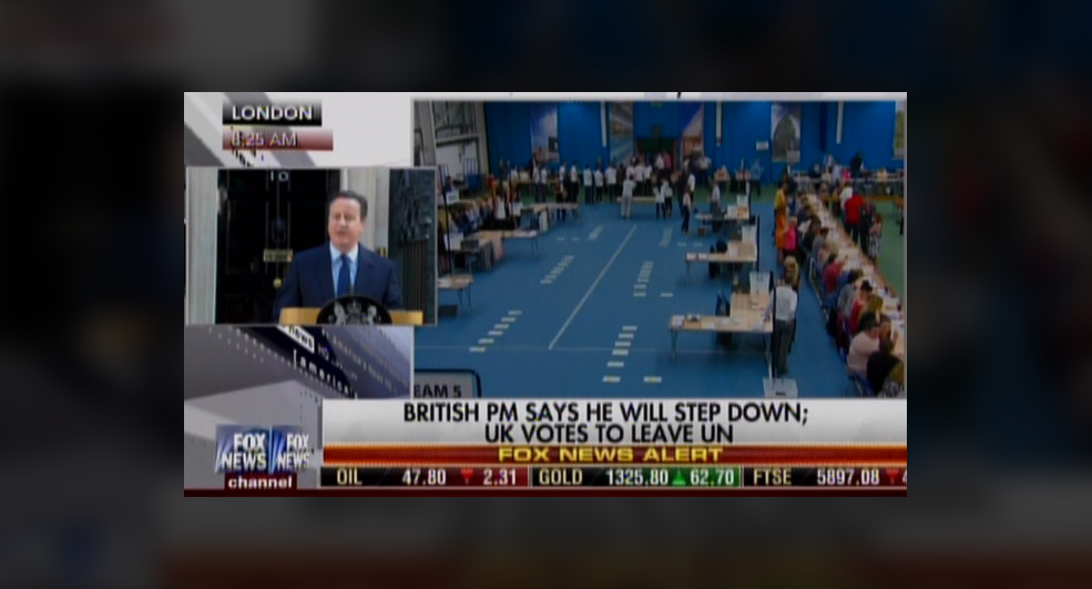 Fox News says UK is leaving the UN