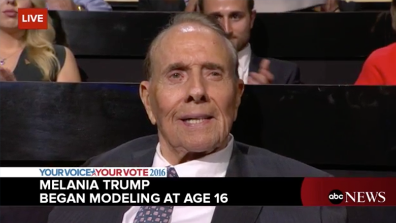Bob Dole identified as Melania Trump