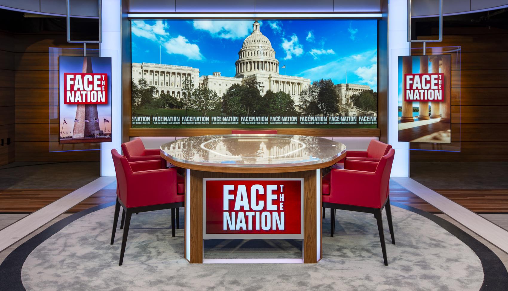 CBS Face the Nation studio in Washington