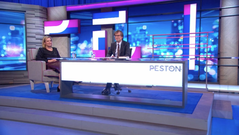 Studio of ITV's Peston - which films at Television Centre Studio TC2