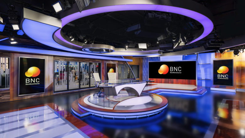 The Black News Channel studio.
